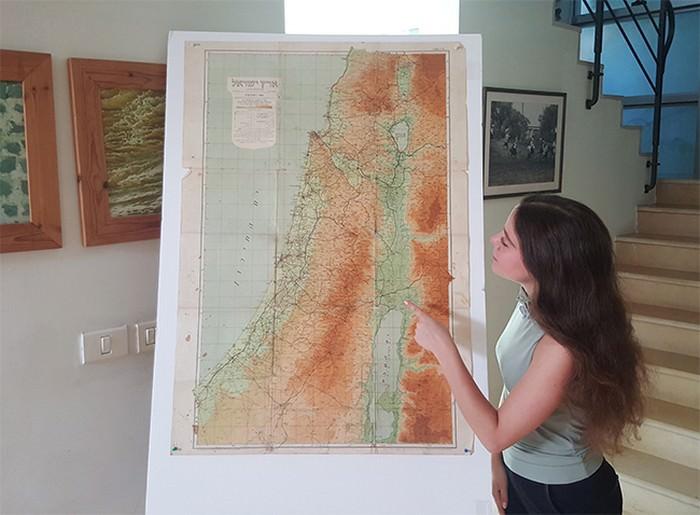 מפת ישראל 1945