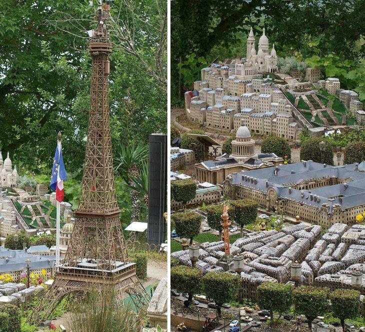 קולאז' תמונות של פריז ובתמונה ניתן לראות את מגדל אייפל
