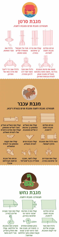 מדריך אוריגמי מגבות