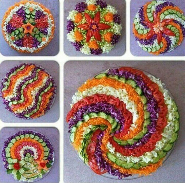 סידורים צבעוניים מירקות