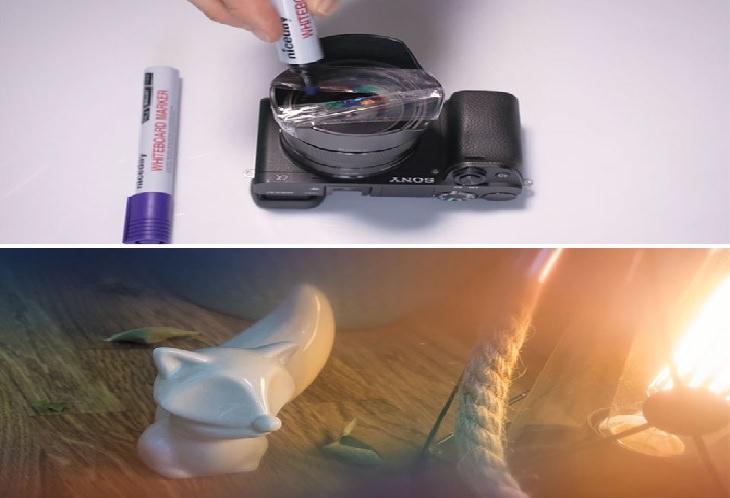 טריקים ליצירת אפקטים בצילום: הוספת גוונים לתמונה באמצעות הדבקת סלוטייפ על העדשה