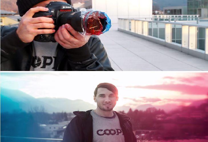 טריקים ליצירת אפקטים בצילום: הוספת גוונים לתמונה באמצעות שקיות צבעוניות
