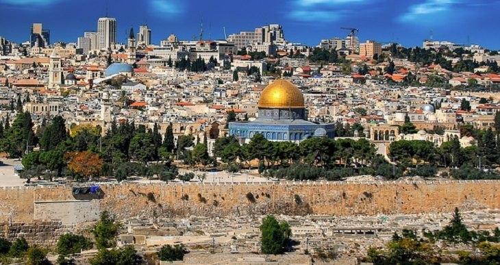 בדיחה על קבורה בירושלים: הנוף של ירושלים