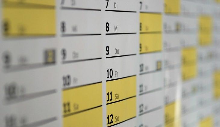 לוח זמנים שבועי