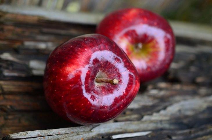 שני תפוחי עץ אדומים