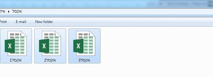 צילום מסך של בחירת מספר קבצים בבת אחת