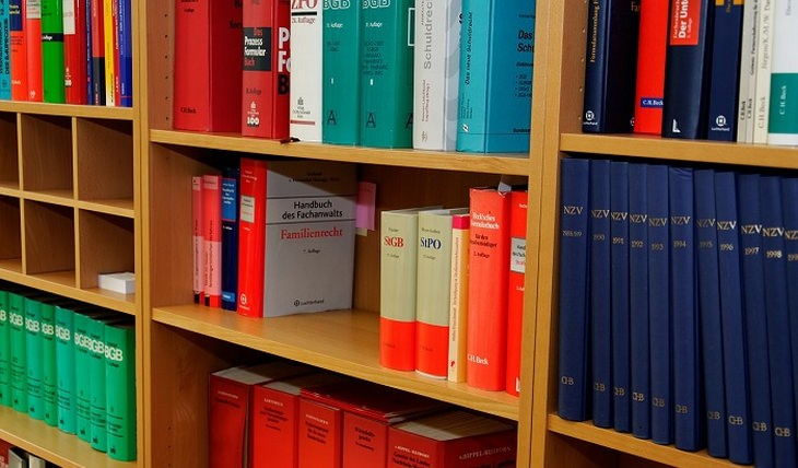 מדפים עם ספרים עליהם