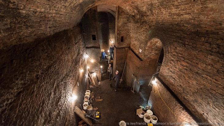 חלק מן המנהרות שנחשפו