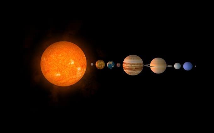 אילוסטרציה של מערכת השמש