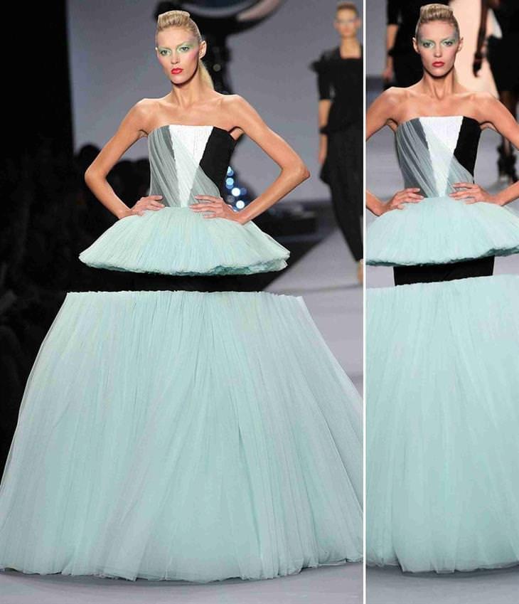 """הדוגמנית אניה רוביק לובשת שמלה שגורמת לה """"לרחף"""" באוויר"""