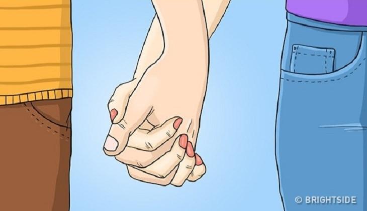 החזקת ידיים כשהאצבעות נעולות זו בזו
