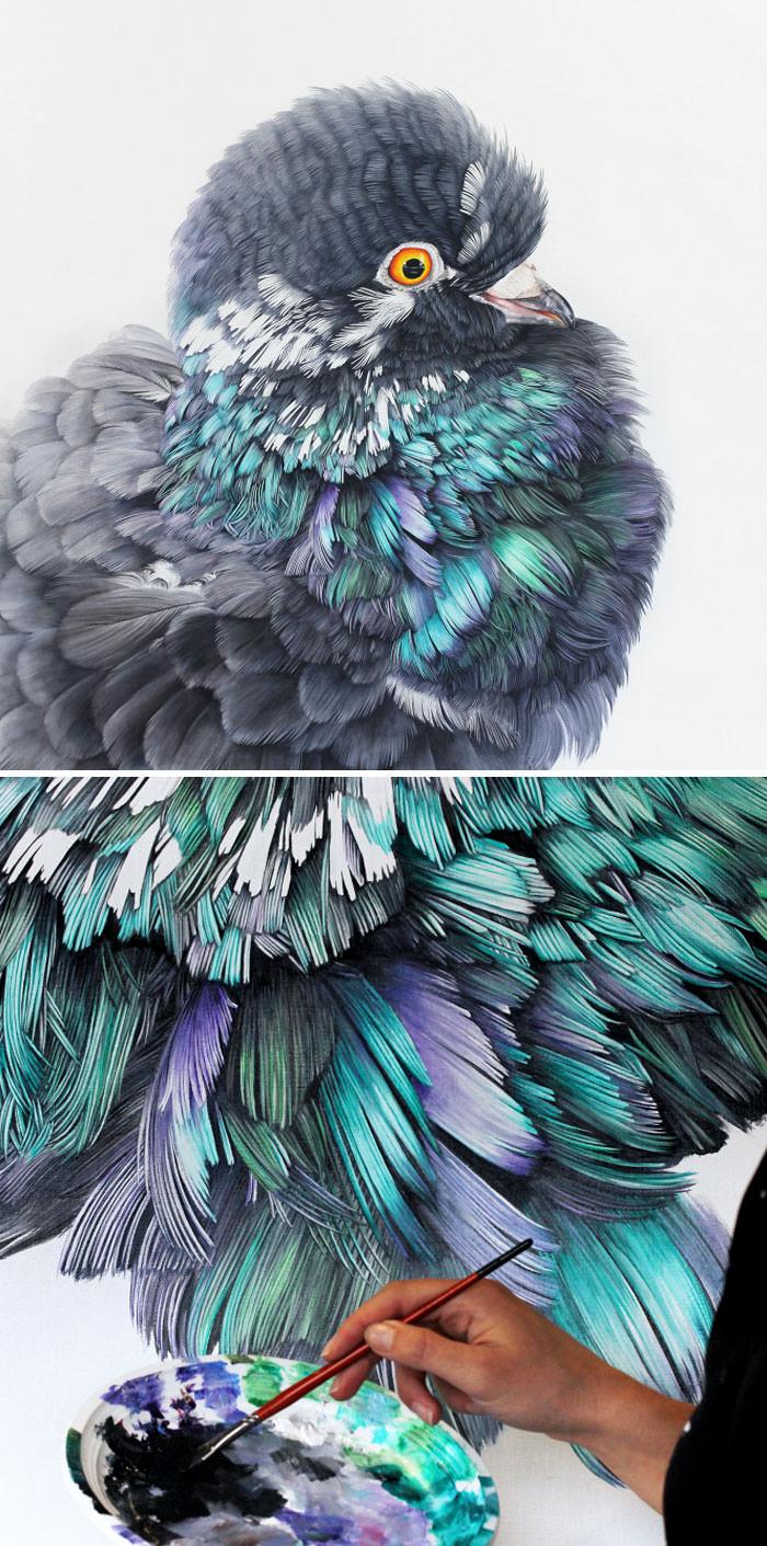 ציור שמן - Adele Renault