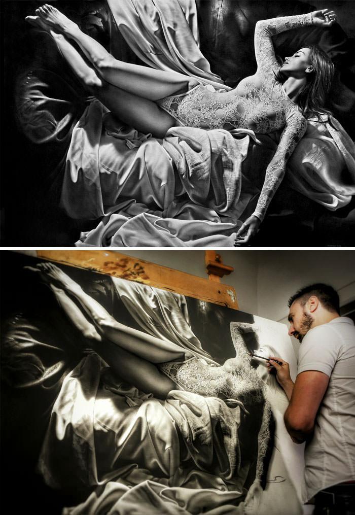 ציור פחם וגרפיט - Emanuele Dascanio