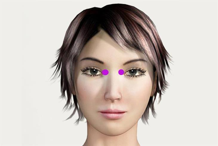 נקודת לחיצה קצה העין הפנימי