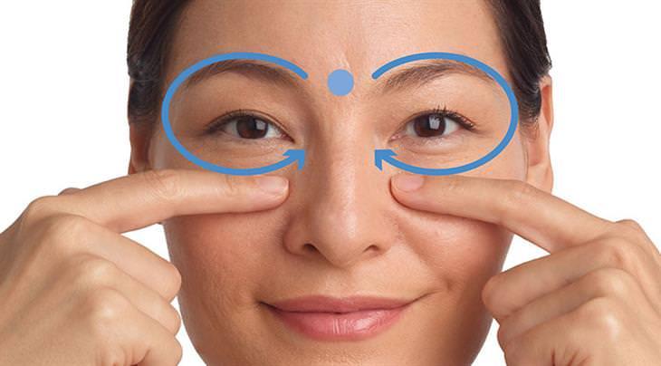 נקודת לחיצה סביב ארובת העין
