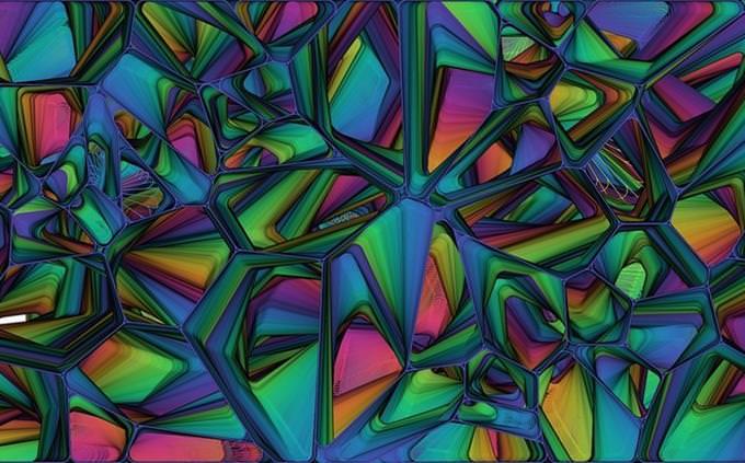 צורות גאומטריות צבעוניות