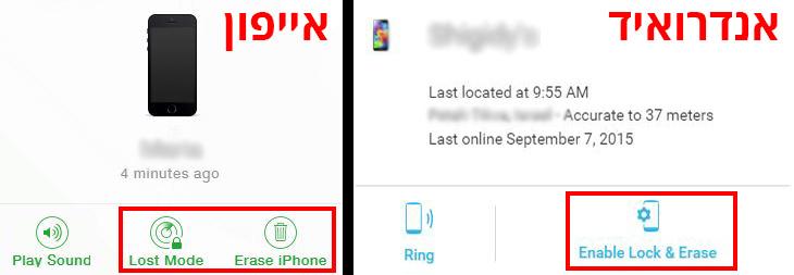 איך לנעול את הסמארטפון ולמחוק את המידע שבו מרחוק - באנדרואיד ובאייפון