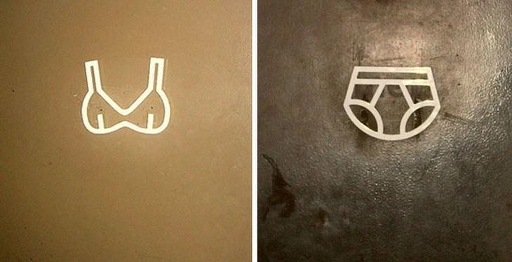 שלטי שירותים מצחיקים