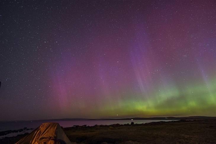אורות הצפון מעל האי בוט