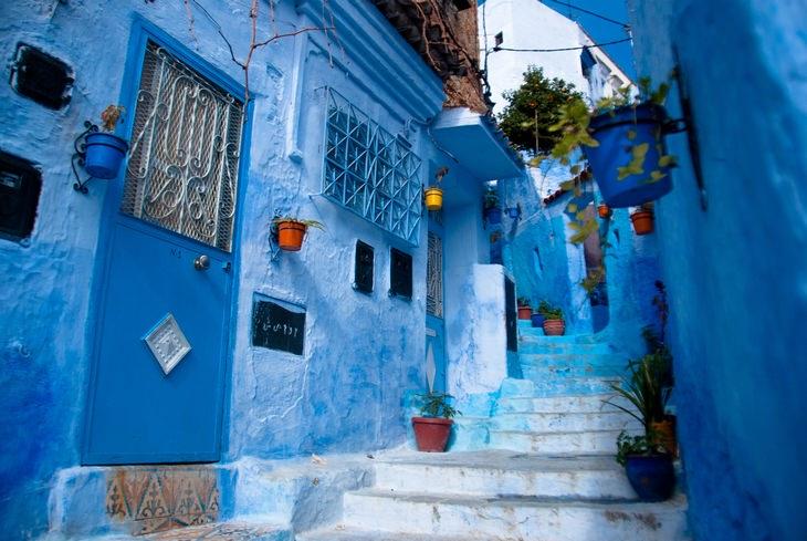 רחובות העיר שפשאוון, מרוקו