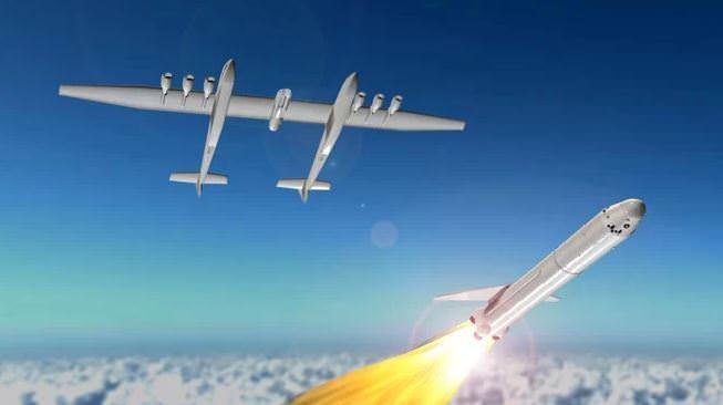 מטוס הסטראטולאנץ' משגר רקטה