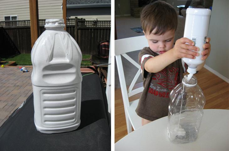 שלבי הכנת חללית מבקבוק פלסטיק