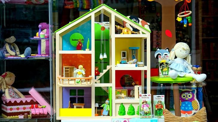 חלון ראווה של חנות צעצועים