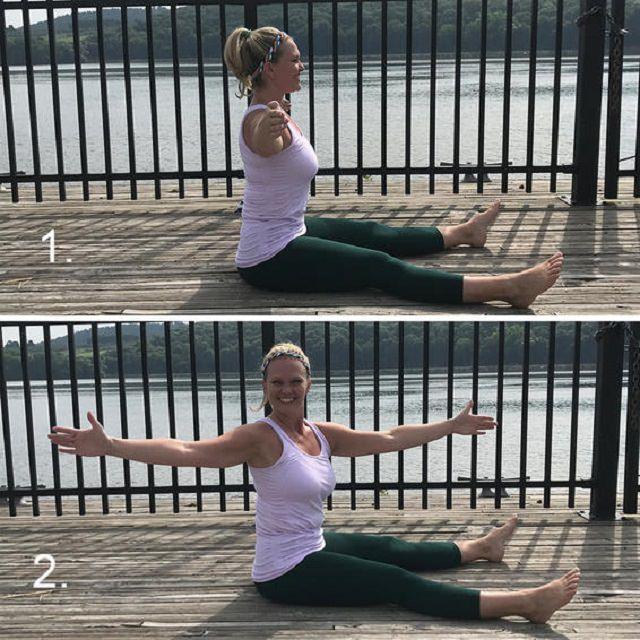 תרגילי פילרטיס: תרגיל סיבובי לעמוד השדרה