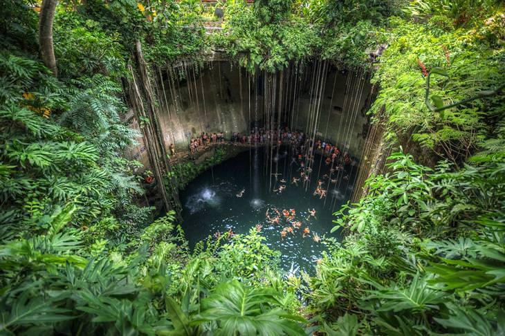 בריכות טבעיות מדהימות מרחבי העולם: סנוטה איק קיל – צ'יצ'ן איצה, מקסיקו