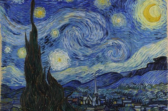 """בחן את סוג הגאונות שלך: היצירה של וינסנט ואן גוך """"ליל כוכבים"""""""