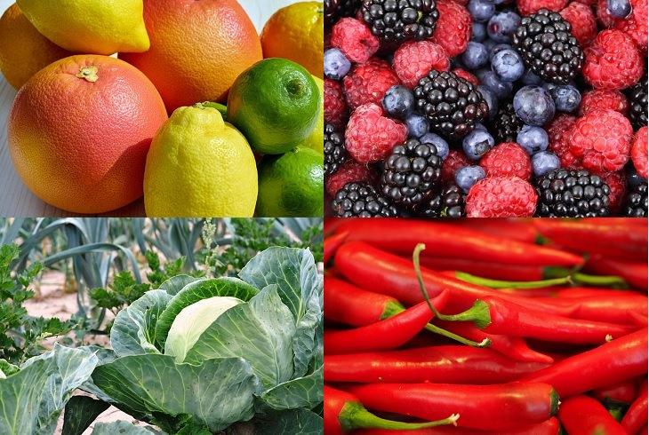 מניעת בעיות בעור על ידי תזונה: פירות הדר, פירות יער, כרוב ופלפל אדום חריף