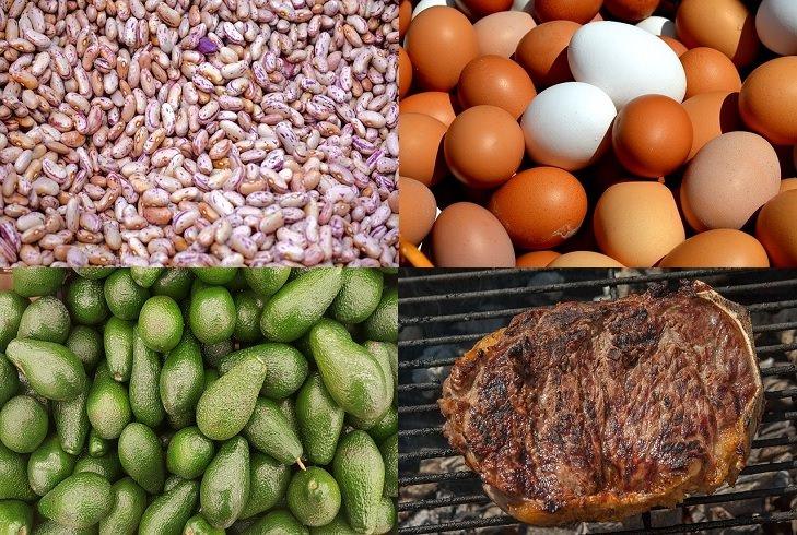 מניעת בעיות בעור על ידי תזונה: שעועית, ביצים, אבוקדו ובשר