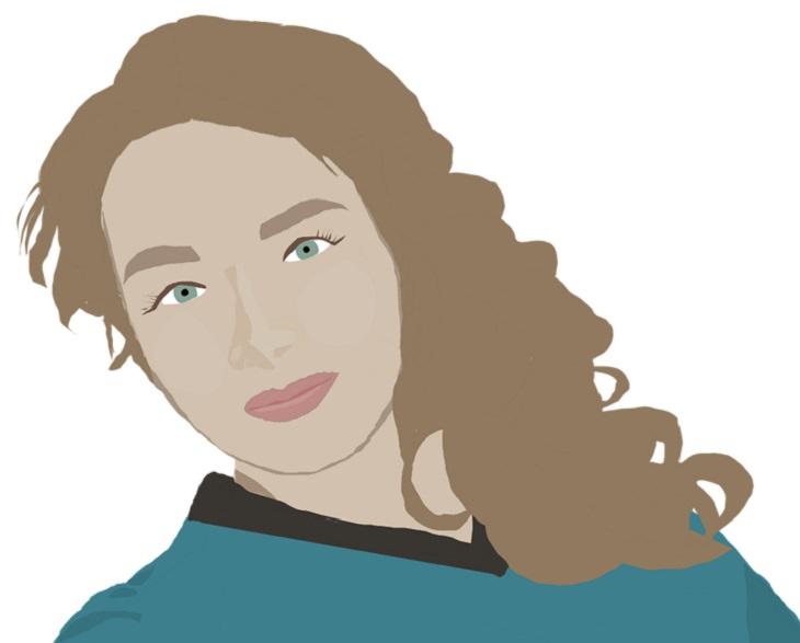 הדרך אל האושר: איור של פני אישה מחייכות