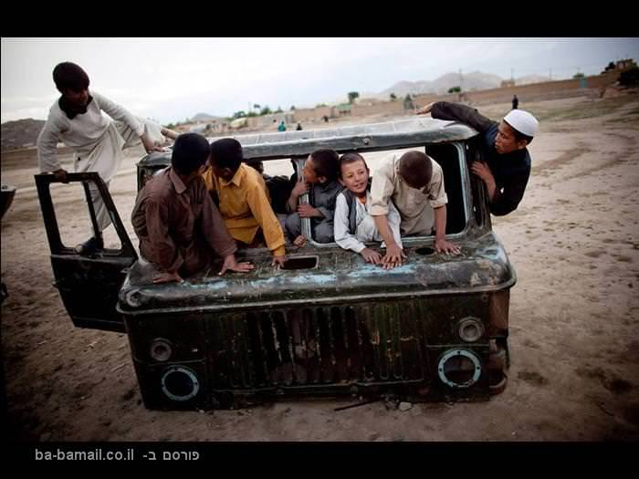 אפגניסטן, רכב שרוף, ילדים, ילדים אפגנים