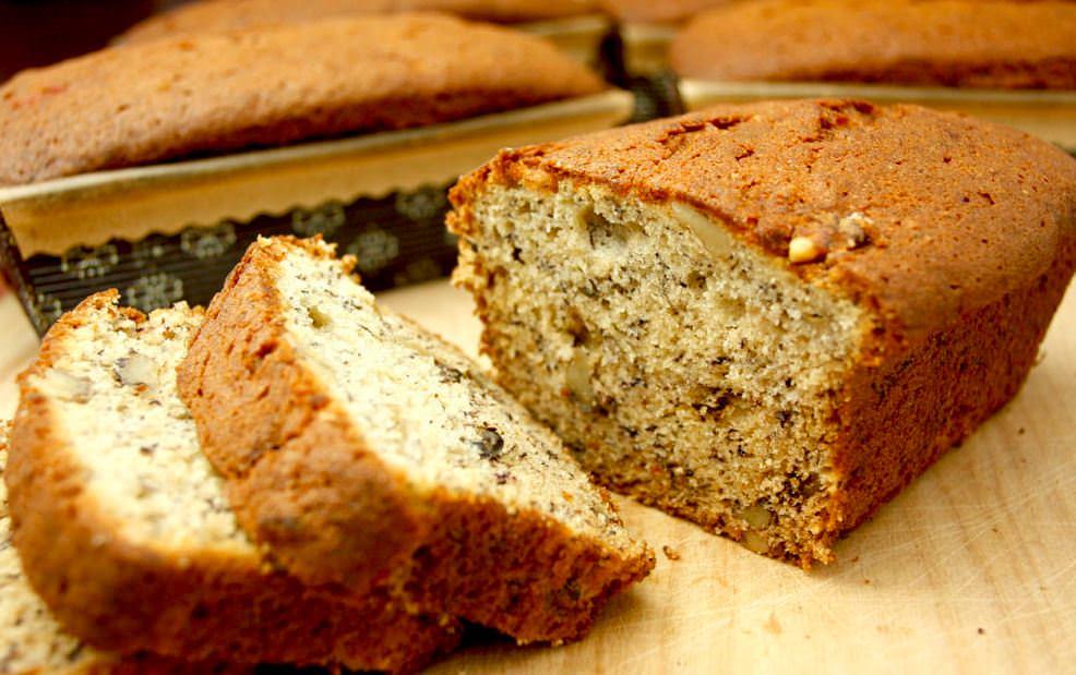 מתכון לעוגת לחם בננה מתוק