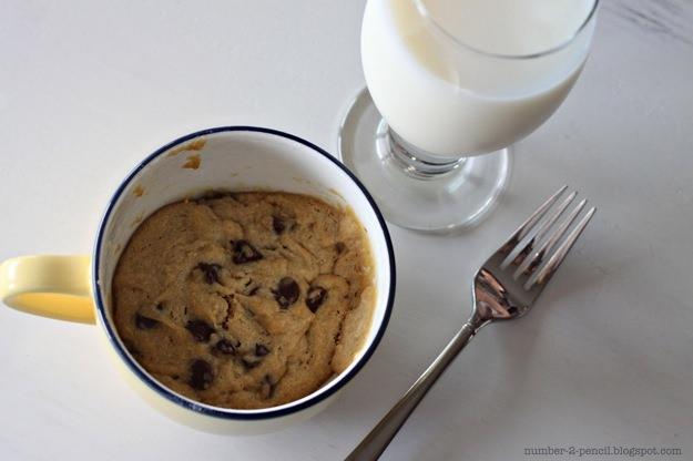 מתכון לעוגיית שוקולד צ'יפס להכנה במיקרוגל