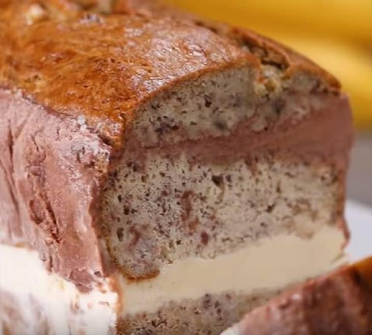 מתכון ללחם בננה-גלידה