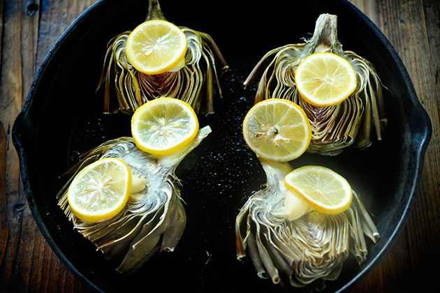 מתכון לארטישוק צלוי עם שמן זית, לימון ושום