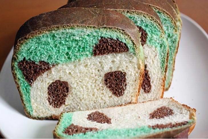 מתכון ללחם בצורת דב פנדה