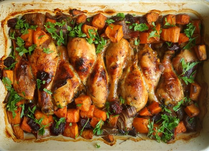 מתכון לשוקי עוף עם סלק ודלעת של מירב גביש