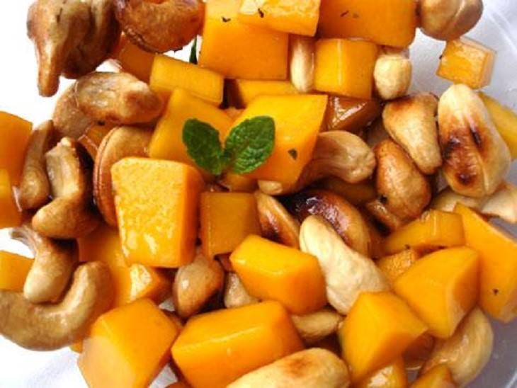 מתכון לסלט מנגו, תפוח וקשיו