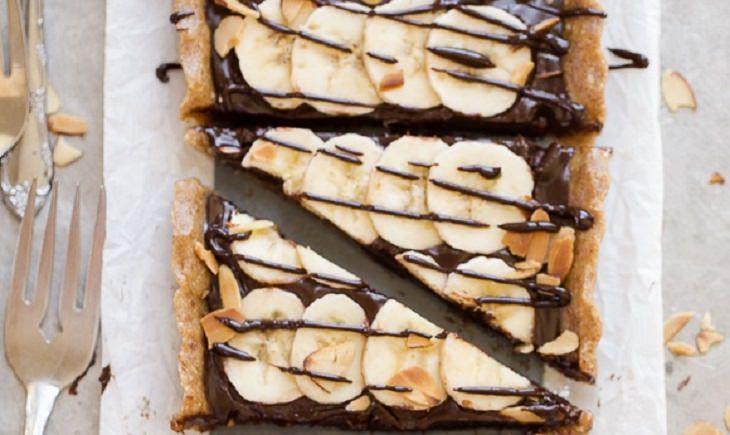 מתכון לעוגת טארט שוקולד בננה ללא אפייה