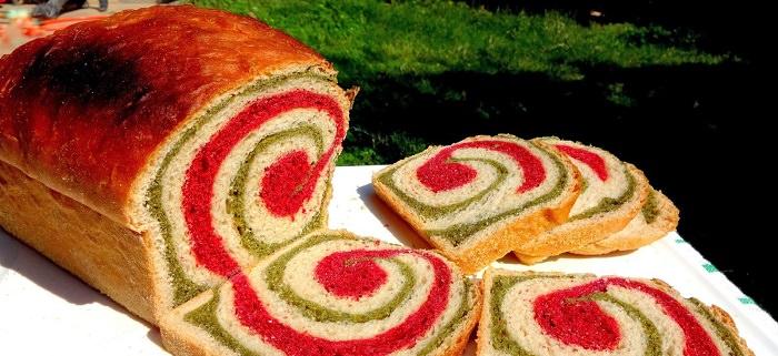 מתכון ללחם מערבולת של סלק ותרד