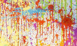 מבחן כישרונות: צבעים שונים נשפכים על משטח