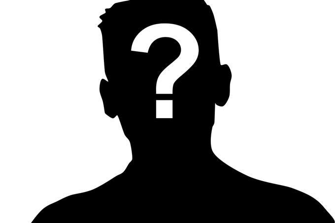 מבחן מלאך שומר: צללית של אדם עם סימן שאלה על פניו